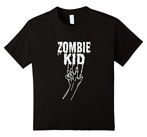 Kids Zombie Kid Halloween 2017 Boys Costume T-Shirt 8 (Crazy 8 Halloween Costumes 2017)