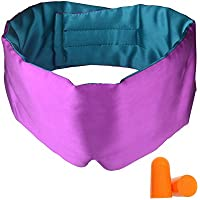 GYSSIEN 100% Silk Sleep Mask, Classic Bi-color Design,...