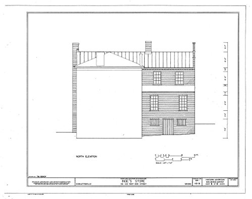Historic Pictoric Blueprint Diagram HABS VA,2-Char,15- (Sheet 5 of 8) - Inge's Store, 331-333 Main Street, Charlottesville, Charlottesville, VA 44in x 32in (Stores In Charlottesville Va)