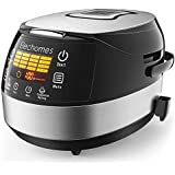 Elechomes Rice Cooker and Food Warmer Steamer, 5 Liter/10-Cups Uncooked Rice