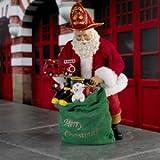 Kurt Adler Fabriche Santa Claus Fireman Toy Drive