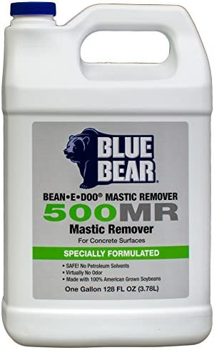 BLUE BEAR 500MR Mastic Remover for Concrete Surfaces Gallon