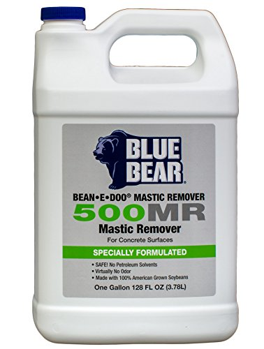 BLUE BEAR 500MR Mastic Remover for Concrete Surfaces Gallon