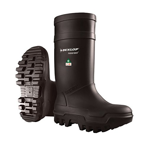 Dunlop E65203306 Purofort Thermo+ Full Safety Omega/EH Cold Protection Boot, Premium Insole, -58°F Cold Insulation, Steel Toe Cap, Black, Size 13 by Dunlop Protective Footwear