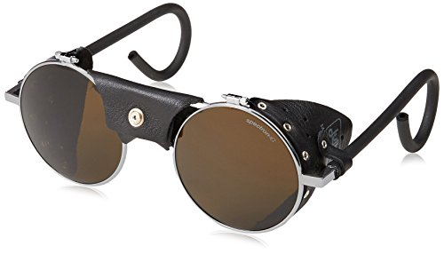 Vermont Classic Sunglasses: Chrome/Black with Spectron 4 - In Spanish Sunglass