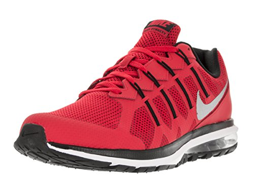 Nike Mens Air Max Dynasty Running Shoe (12 D(M) US), UNIVERSITY RED BLACK WHITE) (Red Nikes Air Shoes For Men)