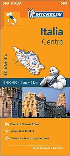 Cartina Stradale Michelin Italia.Amazon It Carta Stradale Italia Centro Map Aa Vv Libri