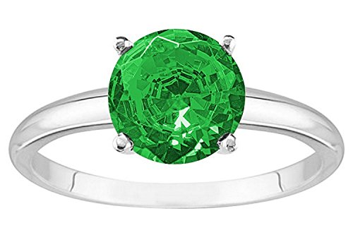 0.5 Ct Emerald Ring - 8