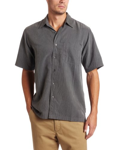 Royal Robbins Men's Desert Pucker Short Sleeve Top,OBSIDIAN,X-Large (Pucker Desert Shirt S/s)