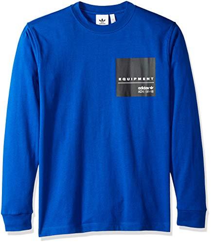 Originals Royal uomo maniche T da Collegiate maniche Adidas a con M shirt lunghe lunghe vvxUA8