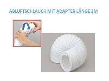 abluftschlauch mit adapter länge 3 meter: amazon.de: küche & haushalt - Küche 3 Meter