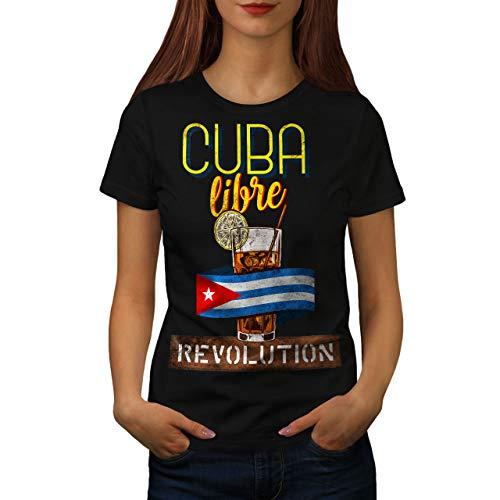 Bicchiere S Nero wellcoda Maglietta Libre Donne 2XL Caqww5Zx