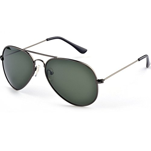 VL Men Aluminum Polarized Sunglasses Classic Brand Sunglasses EMI Defending Coating Lens Driving Shades Color Gun gray box ink green - Brand Ti Glasses