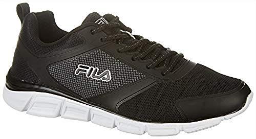 Fila Mens Memory Foam SteelSprint Athletic Shoes (13, Black)