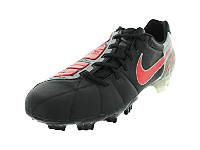 Nike Men's NIKE TOTAL90 LASER III K-FG SOCCER CLEATS 12.5 (BLACK/CHALLENGE RED/MTLLC SLVR)
