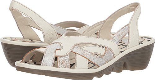FLY London Women's PIMA887FLY Pearl/Off-White Cool/Mousse 40 M EU