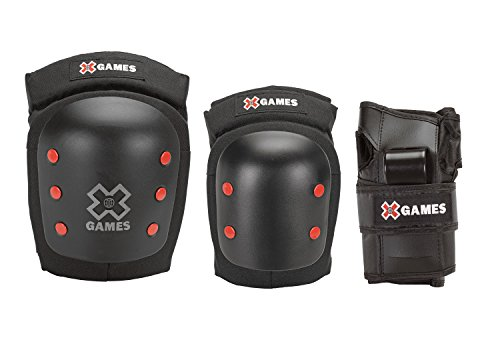 X-Games Big Air Pro Deluxe Youth Elbow, Knee and Wrist Pad Set by X Games