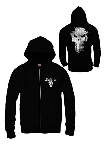 Sweat Zippé homme Punisher - Punisher logo - Legend Icon