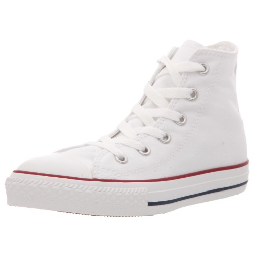 CONVERSE Chuck Taylor All Star Hi-Top (Junior) Kids Trainer - Optical White, 11 (Girls White Converse High Tops)