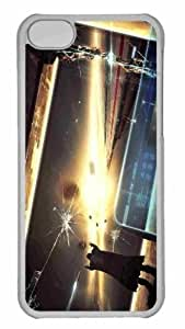 Customized iphone 5C PC Transparent Case - Stratosphere Fire Flight Personalized Cover