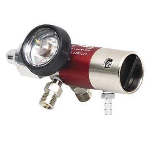 LSP Oxygen Regulator 0-25 lpm -2 Check Valves -Hose Barb