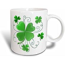 3dRose Lucky Shamrocks Just in Time for St.Patrick's Day, Ceramic Mug, 15-Oz