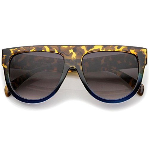 Flat Top Oversized Gradient Sunglasses Shadow Ombre - Shadow Glasses Celine