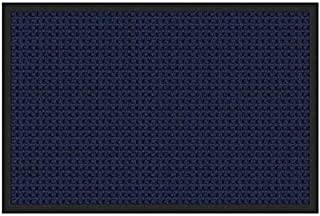 product image for Apache Mills 2'x3' Absorba Doormat Blue with Universal Square Pattern