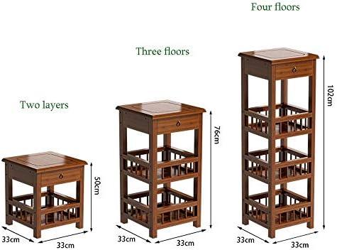 フラワースタンド-花台 屋内工場は工場をスタンドスタンド工場は工場棚屋内工場は、屋外プラントスタンドソリッドウッドフラワーインテリア装飾ストレージラックをスタンドスタンド (Size : Two layers)
