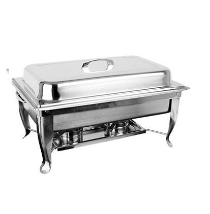 Excellante Stainless Steel 8-Quart Chafer, Foldable Frame Thunder Group SLRCF005