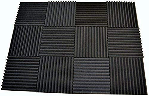 FOAMENGINEERING 48-Pack Acoustic Panels Studio Soundproofing Foam Wedge tiles 1''x12''x12'' 100% Made in USA- Great for music sound and noise reduction. by FoamEngineering (Image #5)