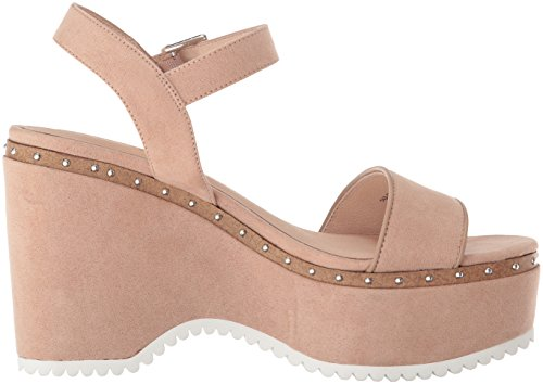 Chinese Laundry Womens Tula Wedge Sandal Dark Nude Suede cWCl1cuF