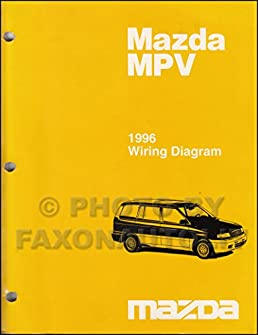 1996 mazda mpv wiring diagram manual original mazda amazon com books rh amazon com 2007 Mazda 3 Transmission Wiring Diagram Mazda B2200 Wiring-Diagram