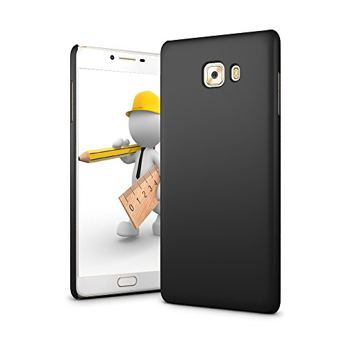 (SLEO Case for Xiaomi Mi Max 2, Hard PC Slim Soft-touch Rubberized Back Phone Case Cover for Xiaomi Mi Max 2 - Black)