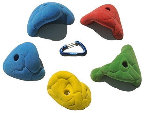 5 XL Fontainebleau Roof Jugs | Climbing Holds | Mixed Bright Tones by Atomik Climbing Holds