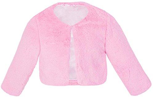 Lilax Girls Cozy Faux Fur Bolero Jacket Shrug 2T Pink - Faux Fur Bolero Jackets