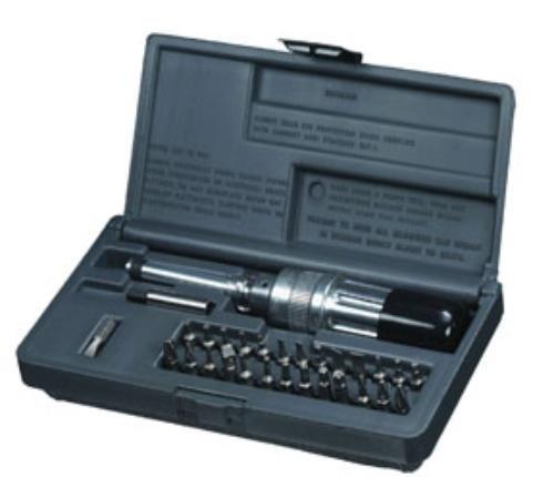 SK Hand Tool SKT0568 Preset Torque Screwdriver Kit, 2 to 36-Inch Pound