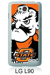 Beautiful And Unique Designed Case For LG L90 With NCAA Big 12 Conference Big12 Football Oklahoma State Cowboys 1 white Phone Case