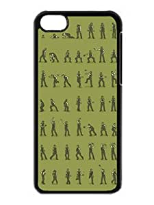 Beautiful Designed Case With Eating Brains, Throwing Shapes Hard Plastic Iphone 5c Cover Cases