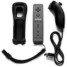 Controle Remote Wiimote Plus+ Nunchuck Preto Nintendo Wii e Wii U
