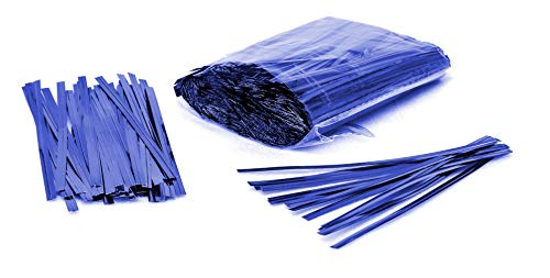 (1000 Pack of Blue Twist Ties. 4 Inches Bag Ties by Amiff. Metallic Twist Ties for cellophane Bags, Food and Party Bags. Storage & Organization. Packing & Packaging. for Stores and Home.)