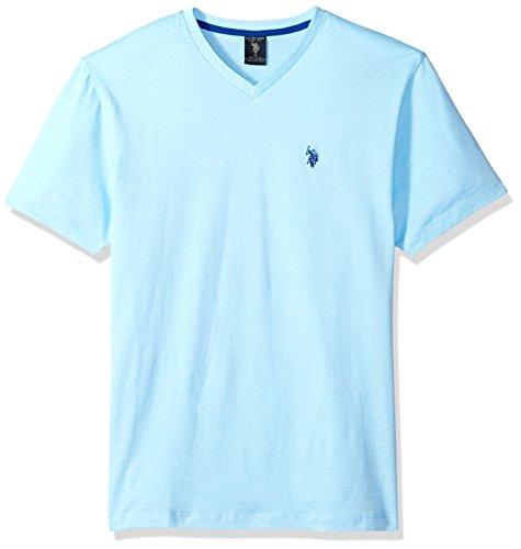 U.S. Polo Assn. Mens Short Sleeve V-Neck Solid T-Shirt