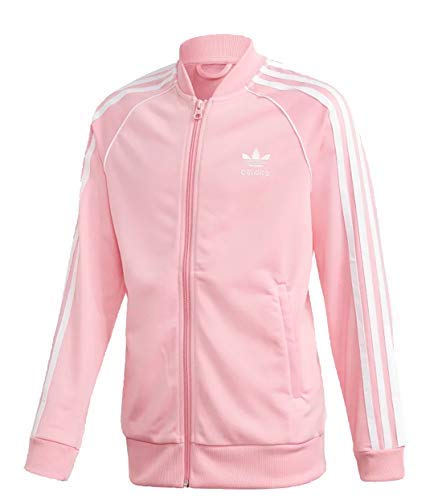 Adidas Junior Unisex Originals SST Track Jacket (XL, Light Pink)