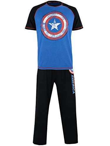 Marvel Mens' Avengers Captain America Pajamas Size Large