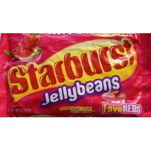 Starburst Fave Reds Jelly Beans, 14-ounce Bag (Pack of 4)