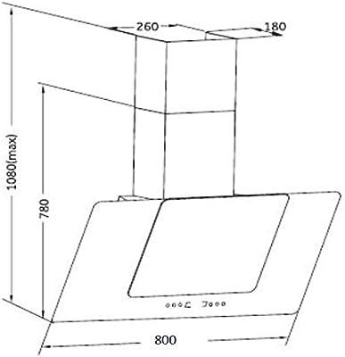 PKM Campana extractora 80 cm 9041-80XBG: Amazon.es: Hogar