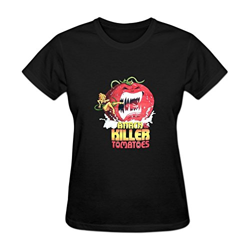 Attack of the Killer Tomatoes Women's Short Sleeve Shirt S Black
