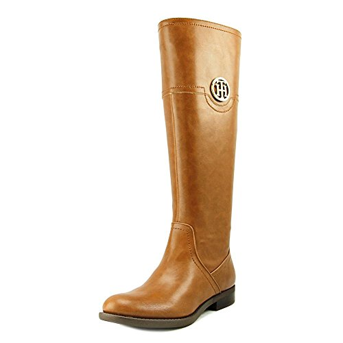 Chestnut Fashion Closed Toe Fashion Silvana2 Womens Boots Hilfiger Tommy Boots High Knee ARygfx