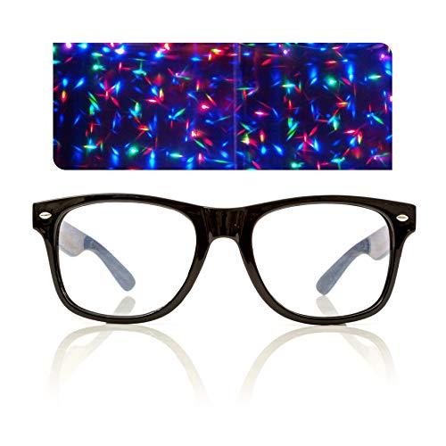 Black Starburst Diffraction Glasses - for Raves, Festivals and More for $<!--$8.99-->