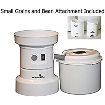 Food Mill with Beans and Small Grains Attachment - Grain Mill Grinder for Home and Professional Use, 1250 W Flour Milling Machine - High Speed Wheat Grinder Electric Grain Mill by WonderMill